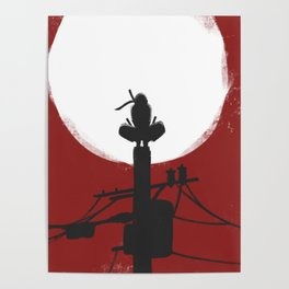 RedMoon Silhouette Poster