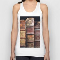 library Tank Tops featuring Library by Mad Marys
