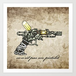 Raygun this is not a pipe Art Print