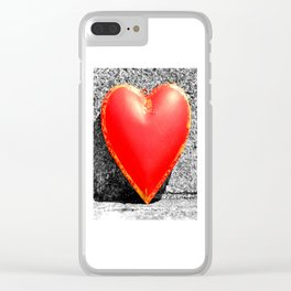 Stone Cold Love Clear iPhone Case