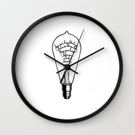 "Ode to the Bulb - ""keep your lamp"" Wall Clock"