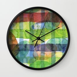 Ovals and Checks Wall Clock
