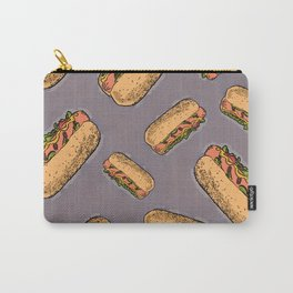 THERE'S ALWAYS TIME FOR A HOT-DOG! - LILAC Carry-All Pouch