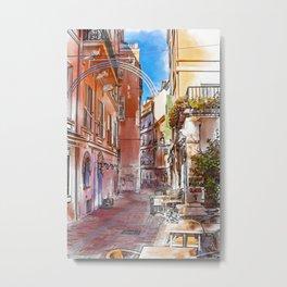 Narrow street in Monaco Monte Carlo Metal Print