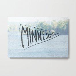 Minnesota Pennant  Metal Print
