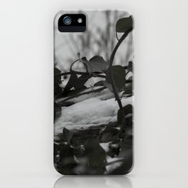 Snow covered ivy iPhone Case