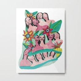 Caribeans girls Metal Print