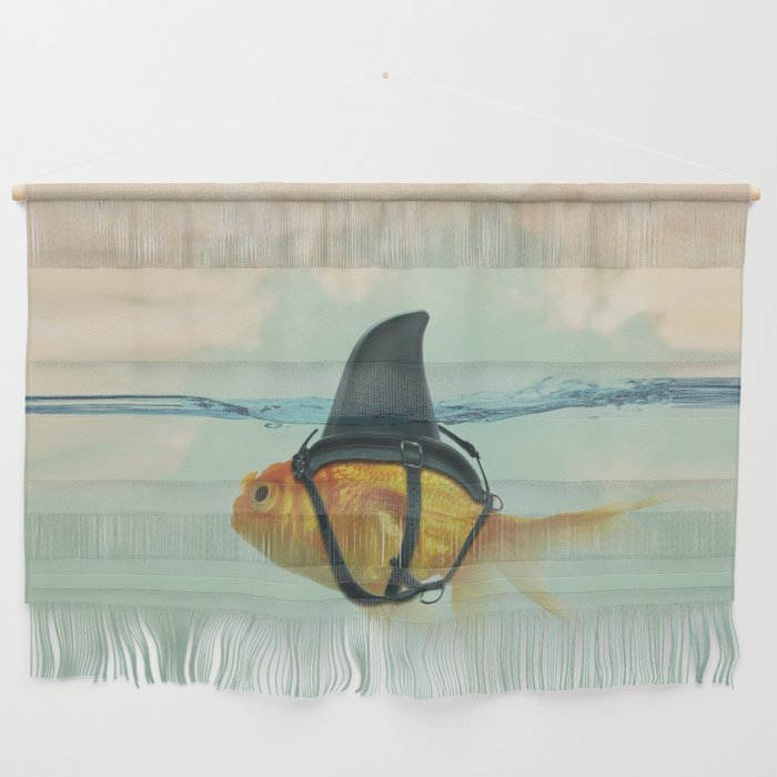 Brilliant DISGUISE - Goldfish with a Shark Fin Wall Hanging