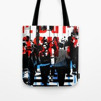 obey Tote Bags featuring Obey by shopdgirl