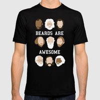 Beards Are Awesome Mens Fitted Tee X-LARGE Black