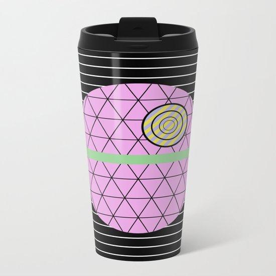 Death Star (Abstract, pastel, geometric artwork) Metal Travel Mug