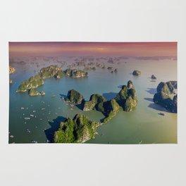 Limestones rock of Ha Long Bay in Vietnam Rug