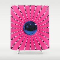 artrave Shower Curtains featuring artRAVE Gazing Ball by ARTPOPdesigns