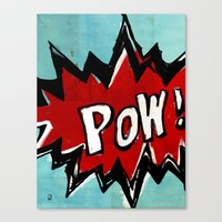 comic book Canvas Prints featuring Comic Book: Pow! by Ed Pires