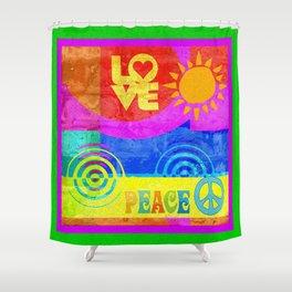 Love Peace Shower Curtain