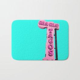 Cha-Cha's Tacos Retro Vintage Pink Sign Bath Mat