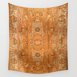 Antique Turkish Oushak Rug Print Wall Tapestry