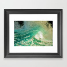 WAVE JOY Framed Art Print