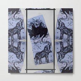 Greasy Elephant Metal Print