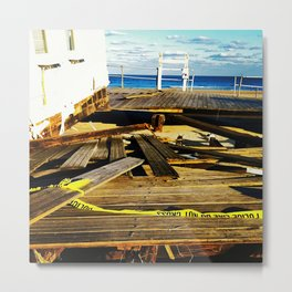Hurricane Sandy Metal Print