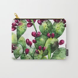 Prickly, Prickly Pear Cactus Carry-All Pouch