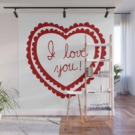 I love you heart Wall Mural