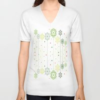 deco V-neck T-shirts featuring Holidays Deco by Elena Indolfi