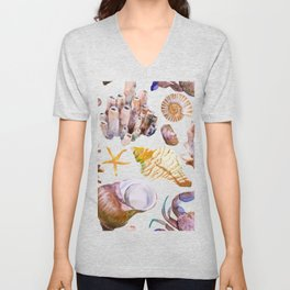 Sea Life Pattern 12 Unisex V-Neck