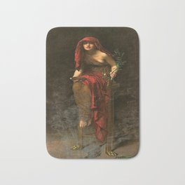 Oracle Priestess Of Delphi Pythia In High Priestess By John Collier Bath Mat