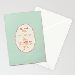 Today You are You Stationery Cards