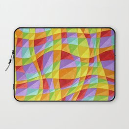 Groovy Rainbow Plaid Laptop Sleeve