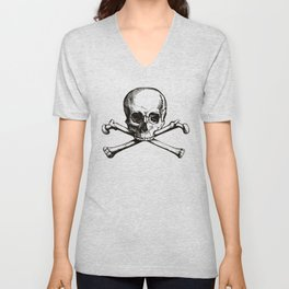 Skull and Crossbones | Jolly Roger Unisex V-Neck