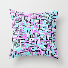 DOS Dreams - CGA Palette 1 Throw Pillow