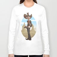 cowboy Long Sleeve T-shirts featuring Cowboy by KevToon
