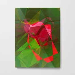 Pink Roses in Anzures 3 Abstract Polygons 2 Metal Print