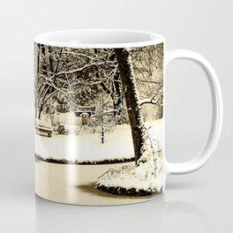 Winter scenery in a park Coffee Mug