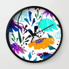 Daisy Days Blue Wall Clock