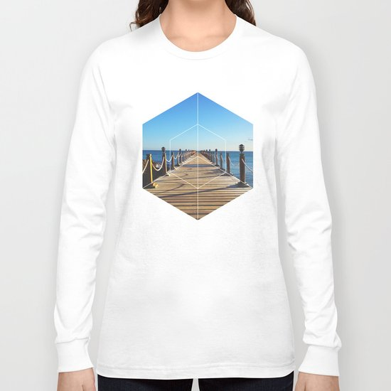 Ocean Walk - Geometric Photography Long Sleeve T-shirt