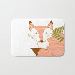 Fashionable Fox - Peach Bath Mat