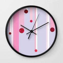 Flying Red Objects Wall Clock