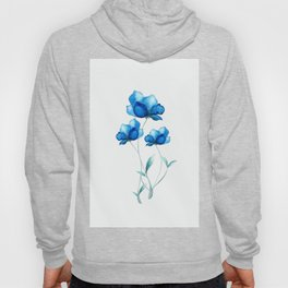 Blue Flowers 2 Hoody