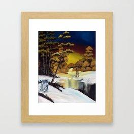 """Golden Sunset, Unknown Planet"" Framed Art Print"