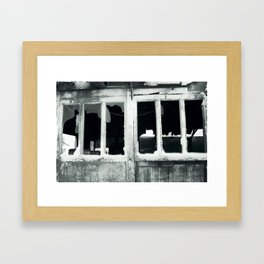 Broken windows. Framed Art Print