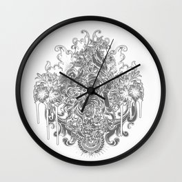 Beautiful Girl with ROSE Wall Clock