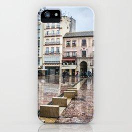 Malaga in rainy day iPhone Case