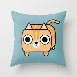 Cat Loaf - Orange Tabby Kitty Throw Pillow