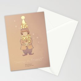 Christmas creatures- The Visiting Friend Stationery Cards