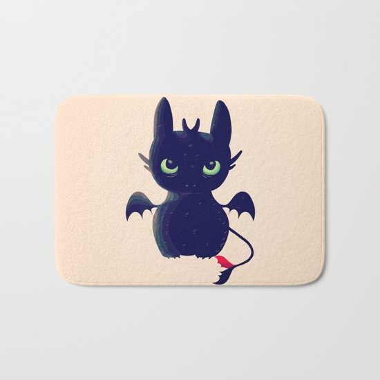 Night Fury Bath Mat