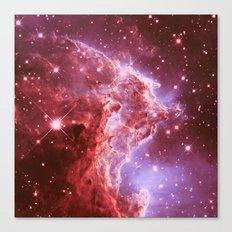 galaxy. Monkey Head Nebula Mauve Burgundy Canvas Print