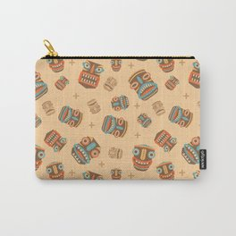 Tiki tribal mask pattern Carry-All Pouch